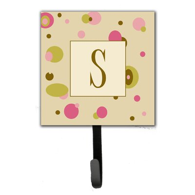 Monogram Dots Leash Holder and Wall Hook Letter: S
