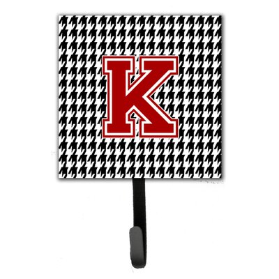 Houndstooth Leash Holder and Wall Hook Letter: K