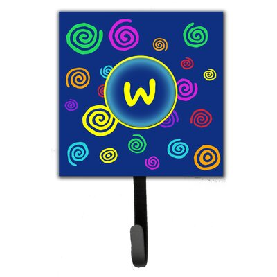 Monogram Swirls Leash Holder and Wall Hook Letter: W
