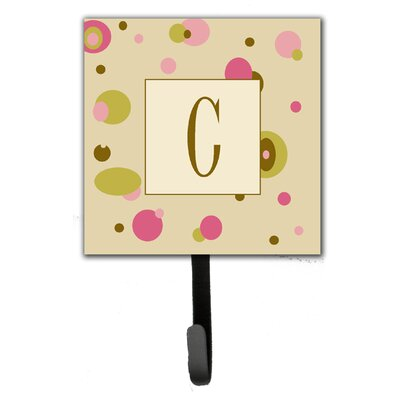 Monogram Dots Leash Holder and Wall Hook Letter: C