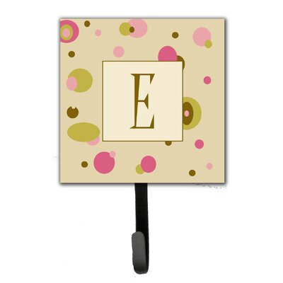 Monogram Dots Leash Holder and Wall Hook Letter: E