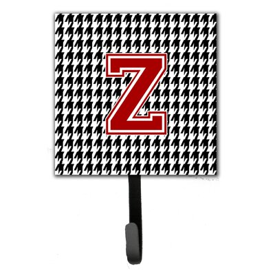 Houndstooth Leash Holder and Wall Hook Letter: Z