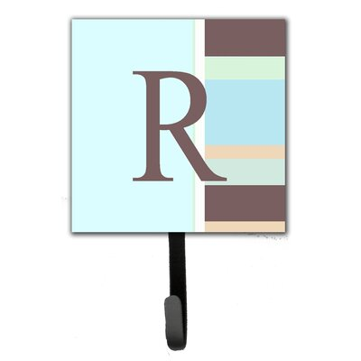 Monogram Stripes Leash Holder and Wall Hook Letter: R