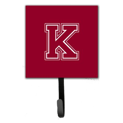 Monogram Leash Holder and Wall Hook Letter: K
