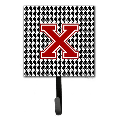 Houndstooth Leash Holder and Wall Hook Letter: X