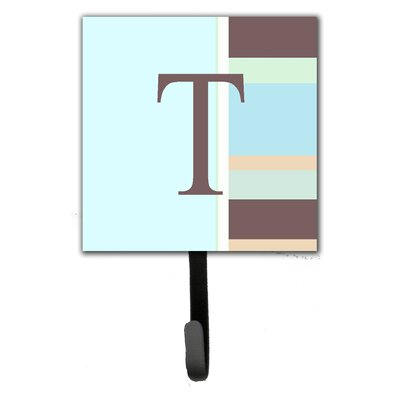 Monogram Stripes Leash Holder and Wall Hook Letter: T