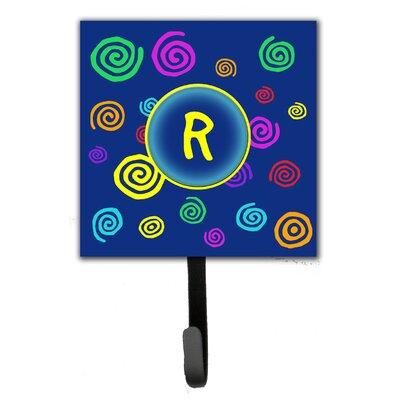 Monogram Swirls Leash Holder and Wall Hook Letter: R