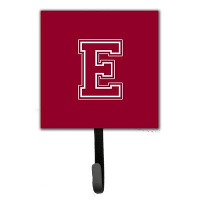 Monogram Leash Holder and Wall Hook Letter: E