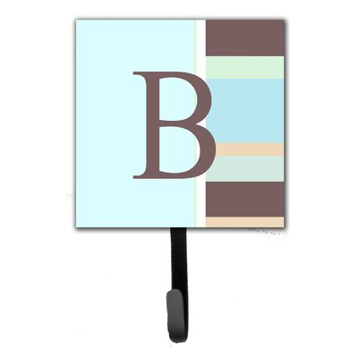 Monogram Stripes Leash Holder and Wall Hook Letter: B