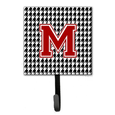 Houndstooth Leash Holder and Wall Hook Letter: M
