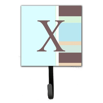 Monogram Stripes Leash Holder and Wall Hook Letter: X