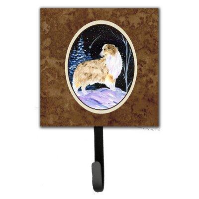 Starry Night Australian Shepherd Leash Holder and Key Hook