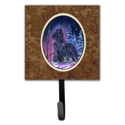 Starry Night Briard Leash Holder and Key Hook