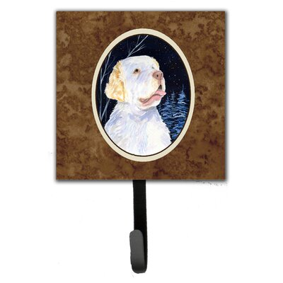 Starry Night Clumber Spaniel Leash Holder and Key Hook