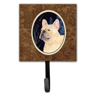 Starry Night French Bulldog Leash Holder and Key Hook