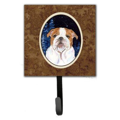Starry Night English Bulldog Leash Holder and Key Hook