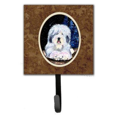 Starry Night Old English Sheepdog Leash Holder and Key Hook