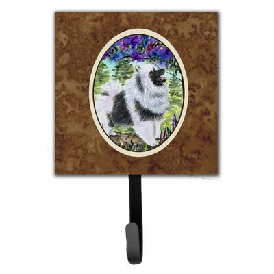 Keeshond Leash Holder and Key Hook