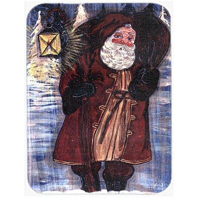 Santa Claus with Lantern Glass Cutting Board