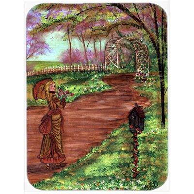 Fancy Lady on a Stroll Glass Cutting Board