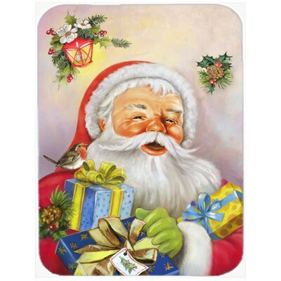 Christmas Santa Claus Presents Glass Cutting Board