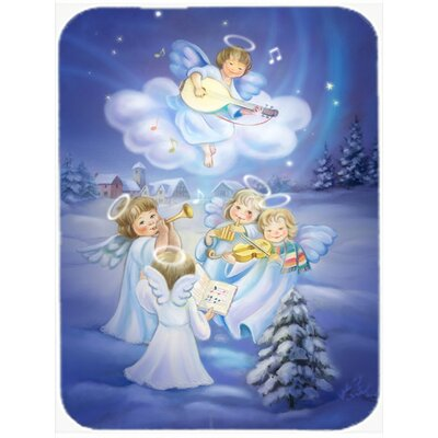 Angels Around the Tree Glass Cutting Board