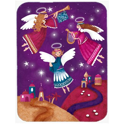 Christmas Angels in Purple Glass Cutting Board