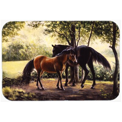 Horses Glass Cutting Board