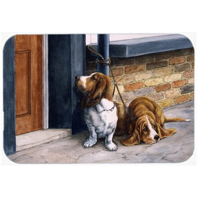 Bassets Basset Hound Glass Cutting Board