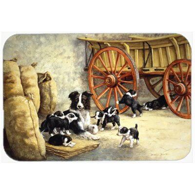 Border Collie Dog Litter Glass Cutting Board