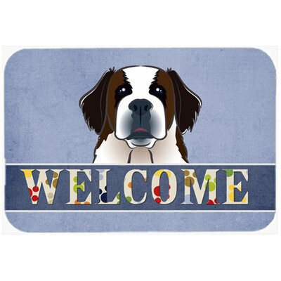 "Saint Bernard Welcome Kitchen/Bath Mat Size: 24"" W x 36"" L"