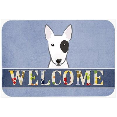 "Bull Terrier Welcome Kitchen/Bath Mat Size: 24"" W x 36"" L"