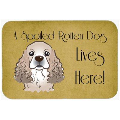 "Cocker Spaniel Spoiled Dog Lives Here Kitchen/Bath Mat Size: 24"" W x 36"" L"