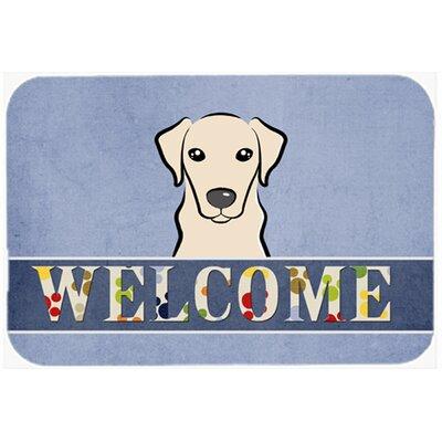 "Labrador Welcome Kitchen/Bath Mat Size: 20"" W x 30"" L, Color: Cream"