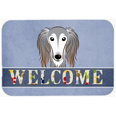 "Saluki Welcome Kitchen/Bath Mat Size: 24"" W x 36"" L"