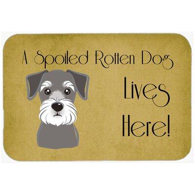 """Schnauzer Spoiled Dog Lives Here Kitchen/Bath Mat Size: 24"""" W x 36"""" L"""