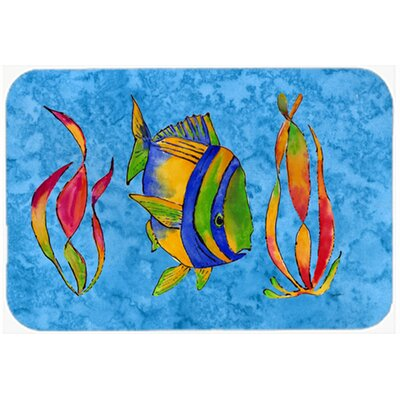 "Troical Fish and Seaweed Kitchen/Bath Mat Size: 24"" W x 36"" L"