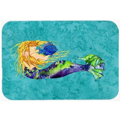 "Blonde Mermaid Kitchen/Bath Mat Size: 24"" W x 36"" L"