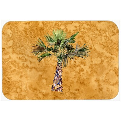 "Palm Tree Kitchen/Bath Mat Size: 24"" W x 36"" L"