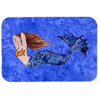 "Brunette Mermaid Kitchen/Bath Mat Size: 24"" W x 36"" L"