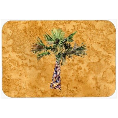 "Palm Tree Kitchen/Bath Mat Size: 20"" W x 30"" L"