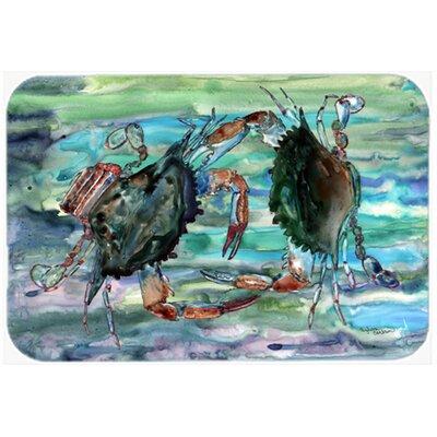 "Watery Crabs Kitchen/Bath Mat Size: 24"" W x 36"" L"