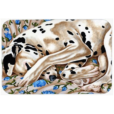 "Bed of Roses Dalmatian Kitchen/Bath Mat Size: 20"" W x 30"" L"