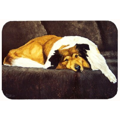 """Collie by Tanya and Craig Amberson Kitchen/Bath Mat Size: 24"""" W x 36"""" L"""