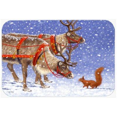 """Reindeer and Squirrel Kitchen/Bath Mat Size: 20"""" W x 30"""" L"""
