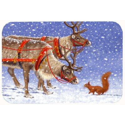 """Reindeer and Squirrel Kitchen/Bath Mat Size: 24"""" W x 36"""" L"""