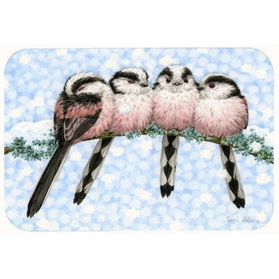 "Roosting Long Tailed Birds Kitchen/Bath Mat Size: 24"" W x 36"" L"