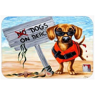 "The Dog Beach Dachshund Kitchen/Bath Mat Size: 20"" W x 30"" L"
