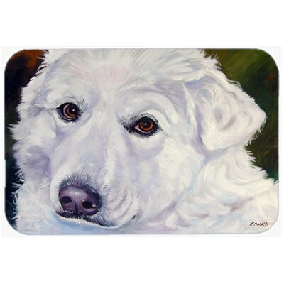 "Great Pyrenees Contemplation Kitchen/Bath Mat Size: 20"" W x 30"" L"