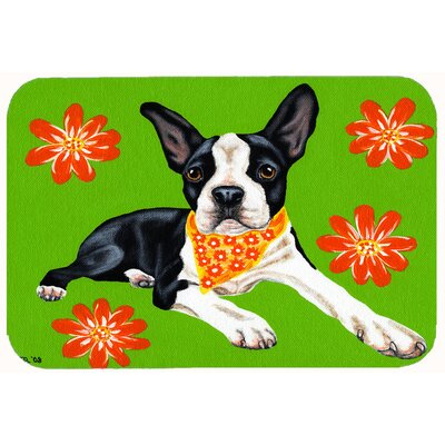 "Cosmo Cutie Boston Terrier Kitchen/Bath Mat Size: 24"" W x 36"" L"